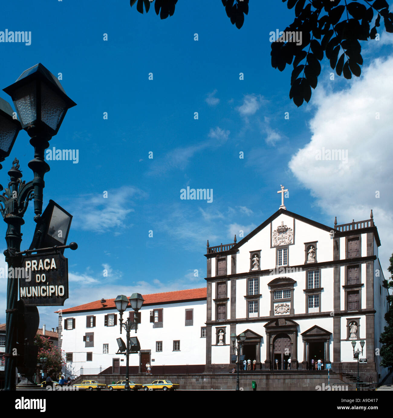 Praca do Municipio (Main Square), Funchal, Madeira, Portugal - Stock Image