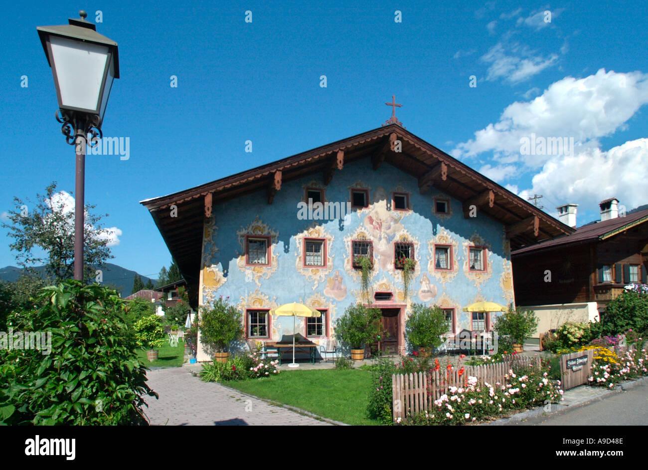 Traditional Tyrolean House St Johann In Tirol Austria