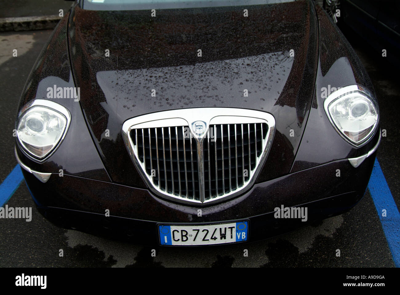 lancia, thesis, saloon, car, Italian, car, maker, Italy, unusual, styling, manufacturer, - Stock Image