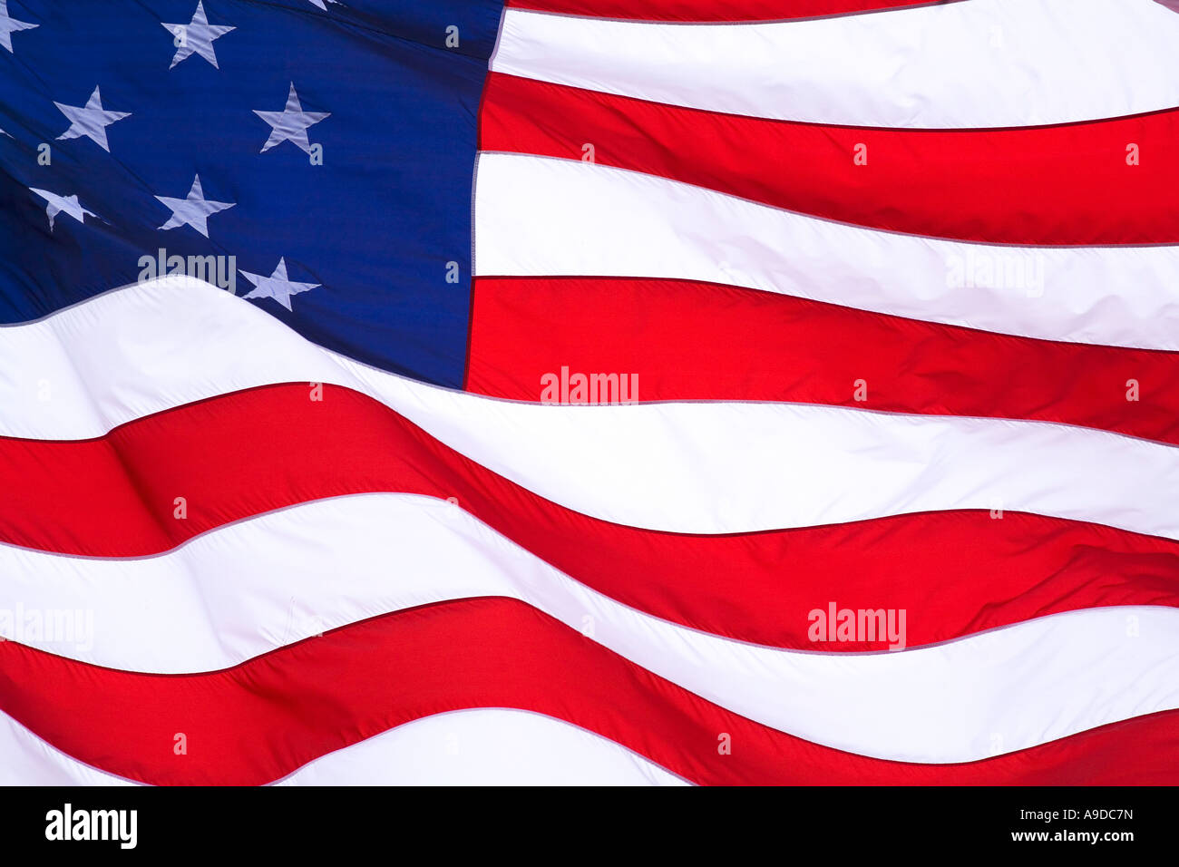 American flag stars and stripes United States of America  USA north - Stock Image