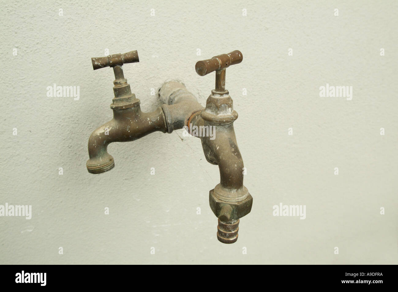 taps without running water - Stock Image