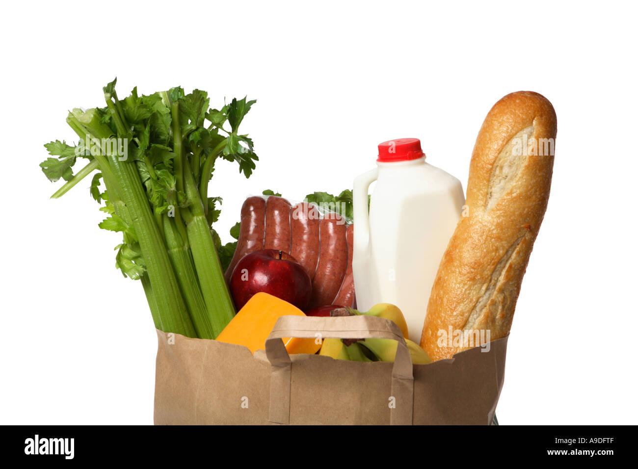 Bag of Groceries - Stock Image