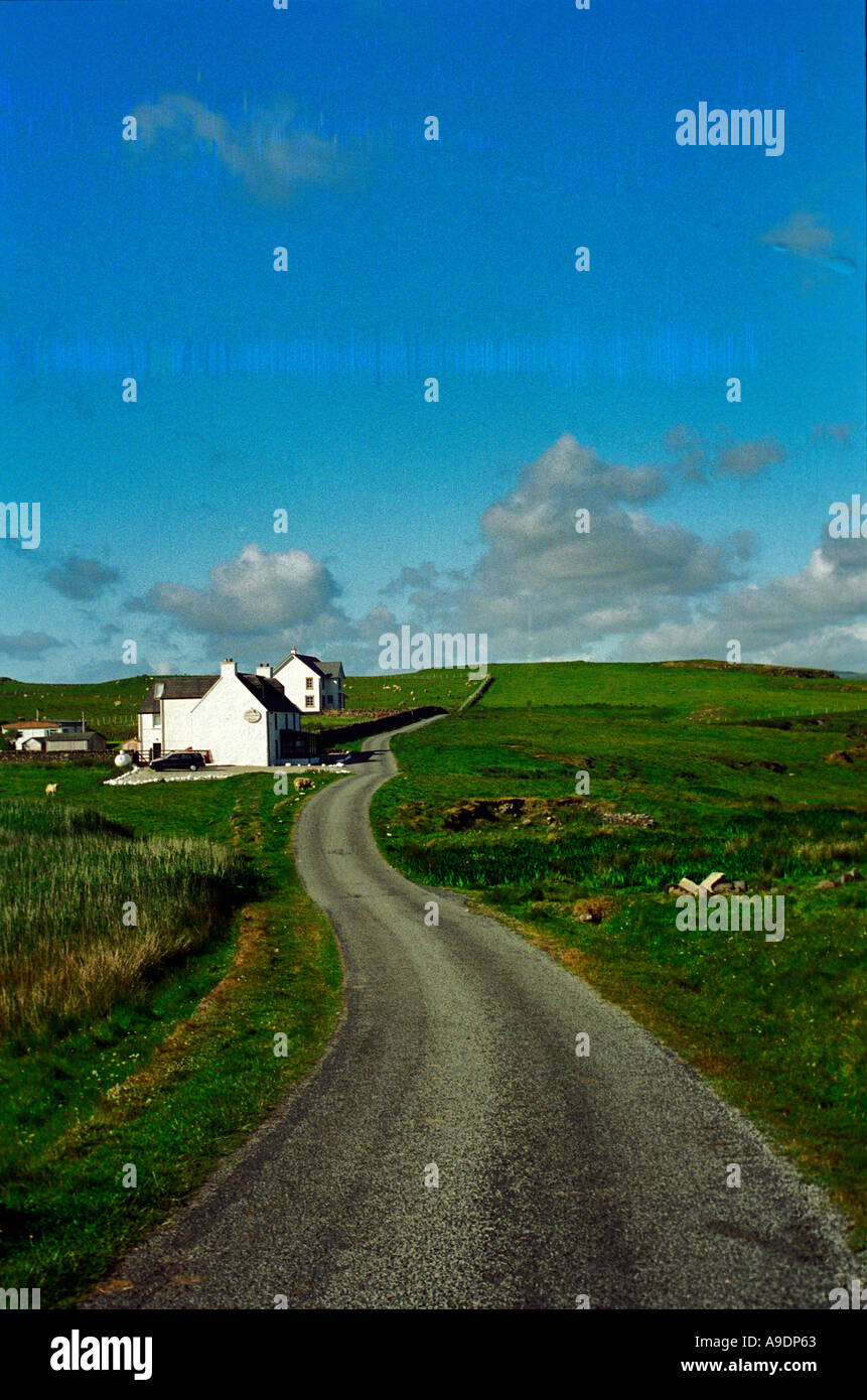 Remote house in the highlands of Scotland - Stock Image