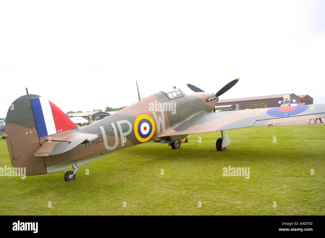 Hurricane RAF Aircraft - Stock Image