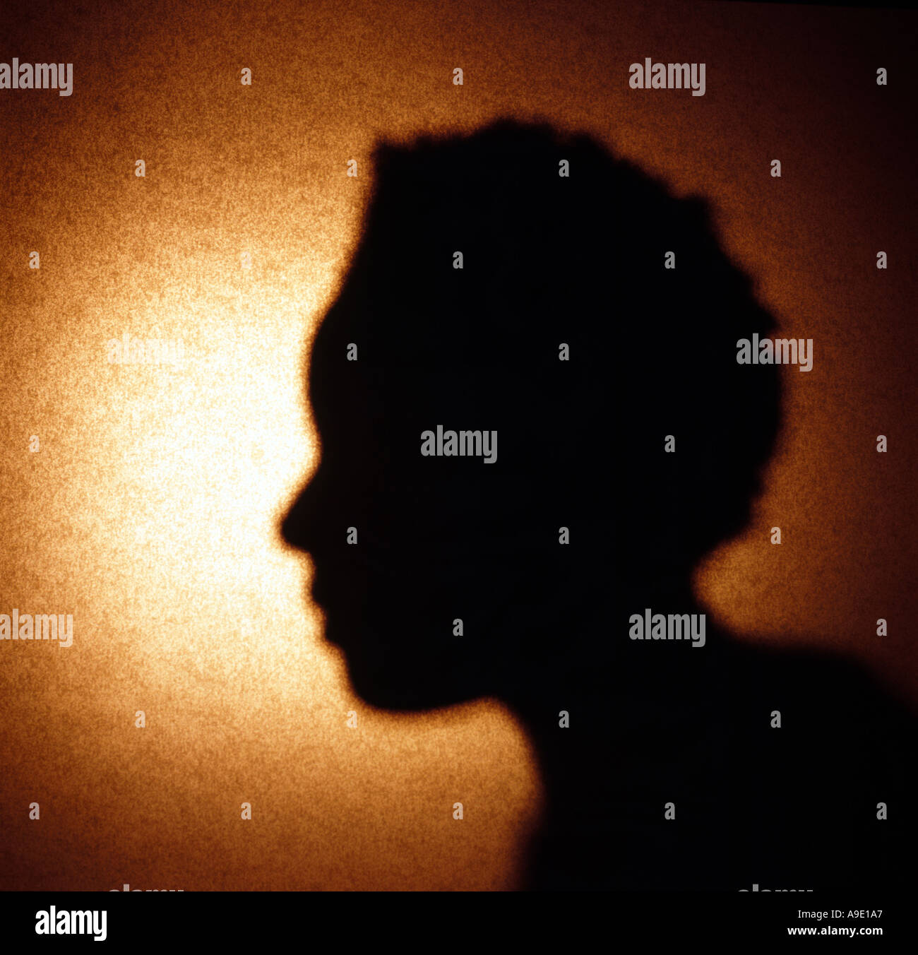 Woman African American silhouette - Stock Image