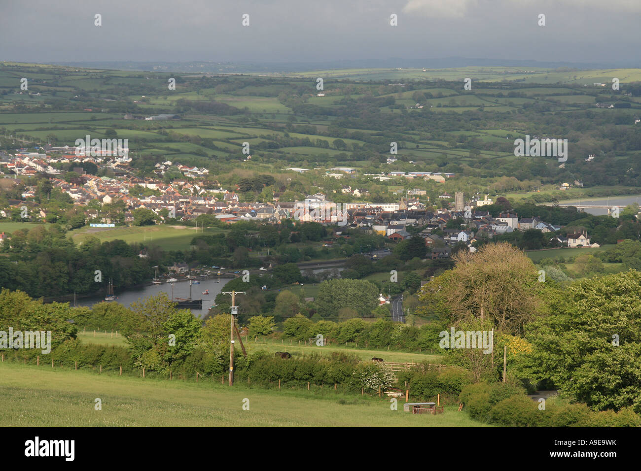 Cardigan, nestling in the Tefi Valley, Wales - Stock Image