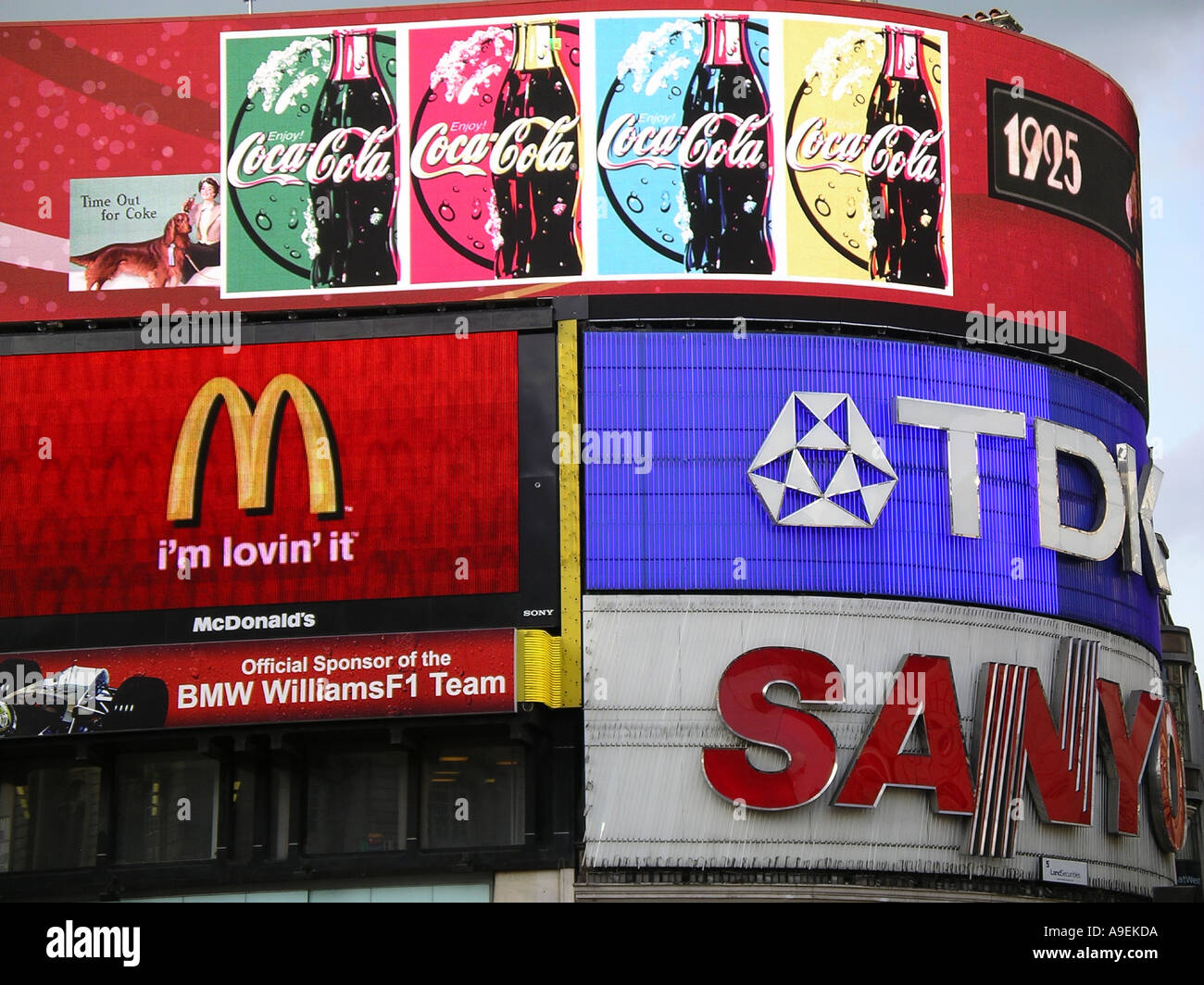 PIcadilly Circus sign - Stock Image