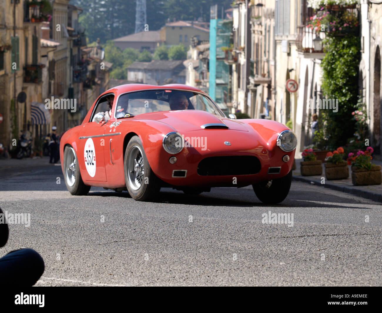 AC ACE Bristol Zagato 1957 in the 2005 mille miglia rally in Italy - Stock Image