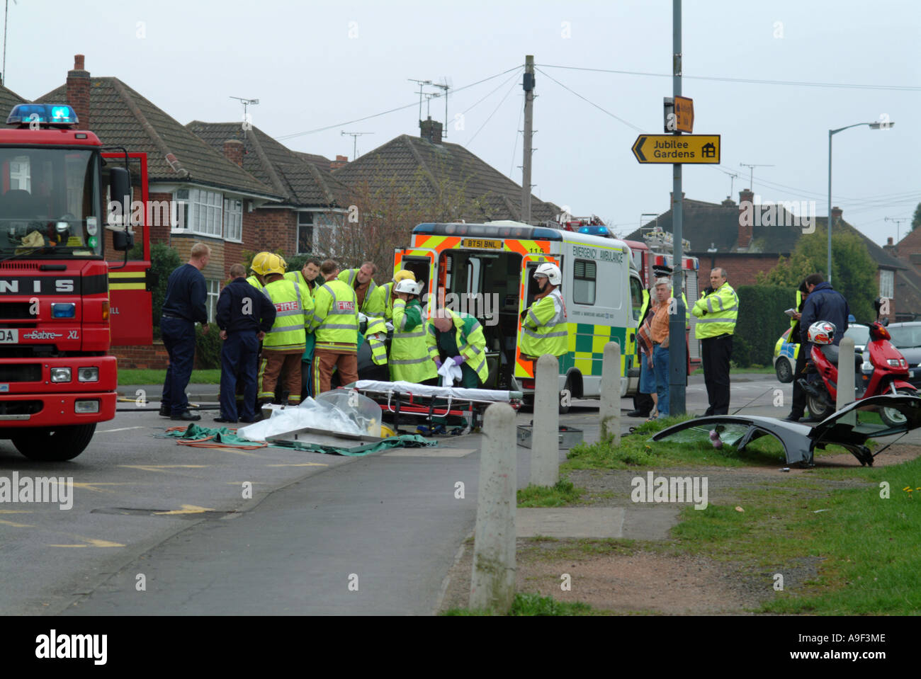 Road traffic accident at a junction in Coventry West