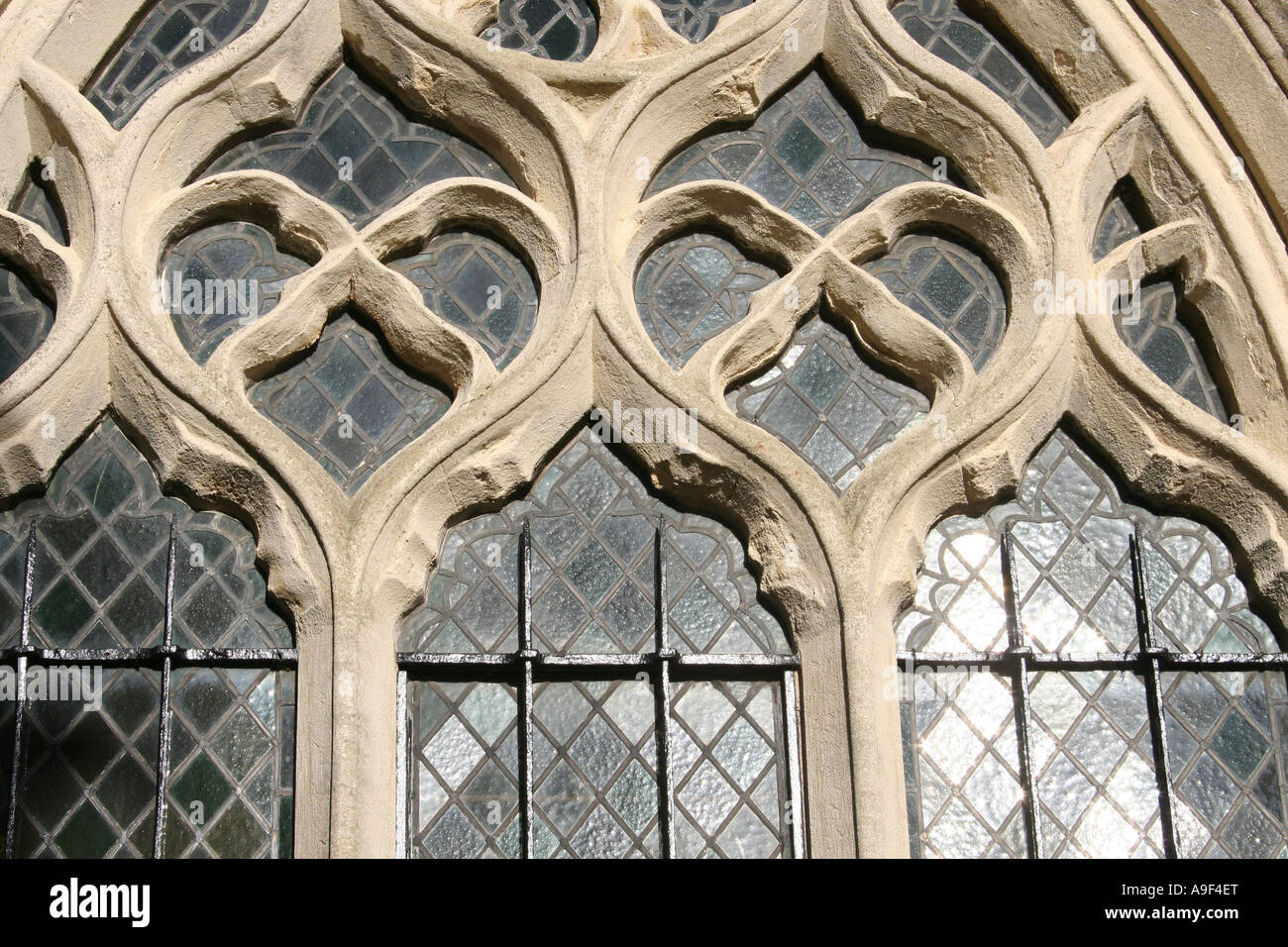 Church Window, St Mary's Church, Thame, Oxfordshire - Stock Image