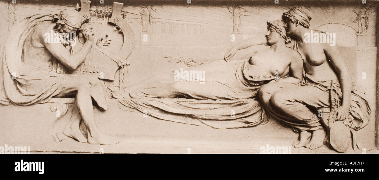 Homer c 900 BC c 850 BC.  Ancient Greek poet.  After a work by Harry Bates. - Stock Image