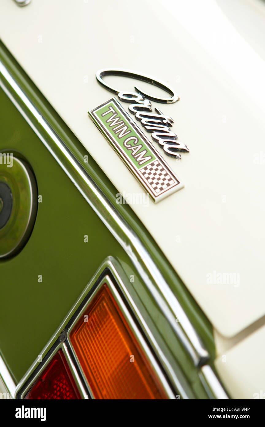Lotus Ford Cortina Twin Cam Rear Badge Mark 2 - Stock Image