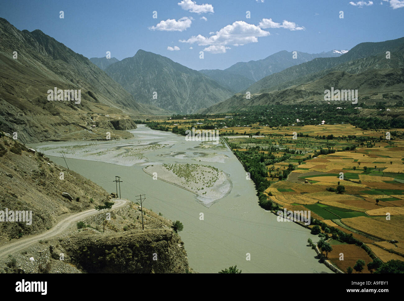 Chitral valley North West Frontier Province Pakistan - Stock Image