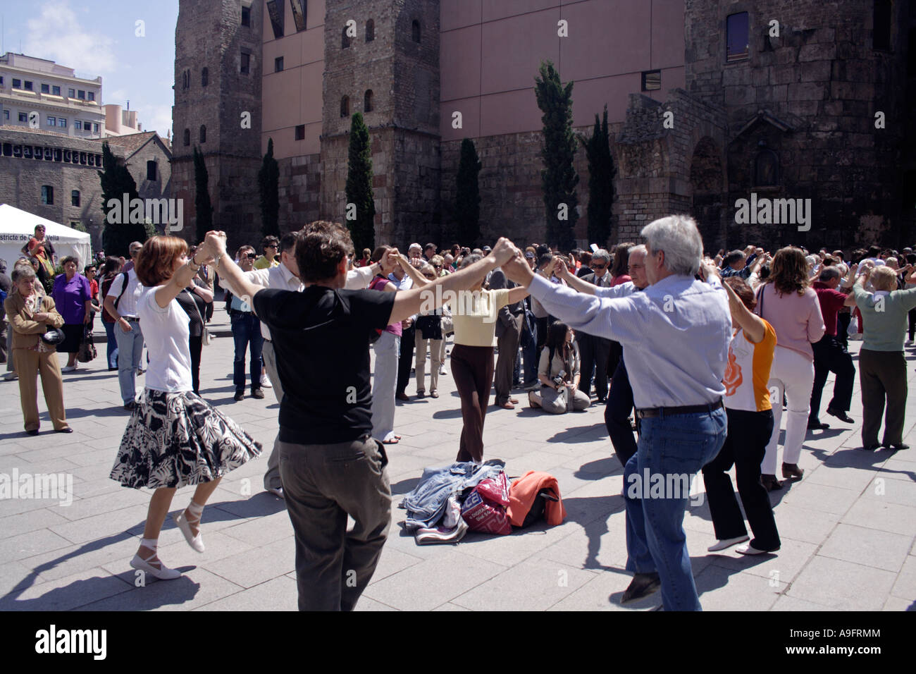 Catalonian dance, sardana - Stock Image