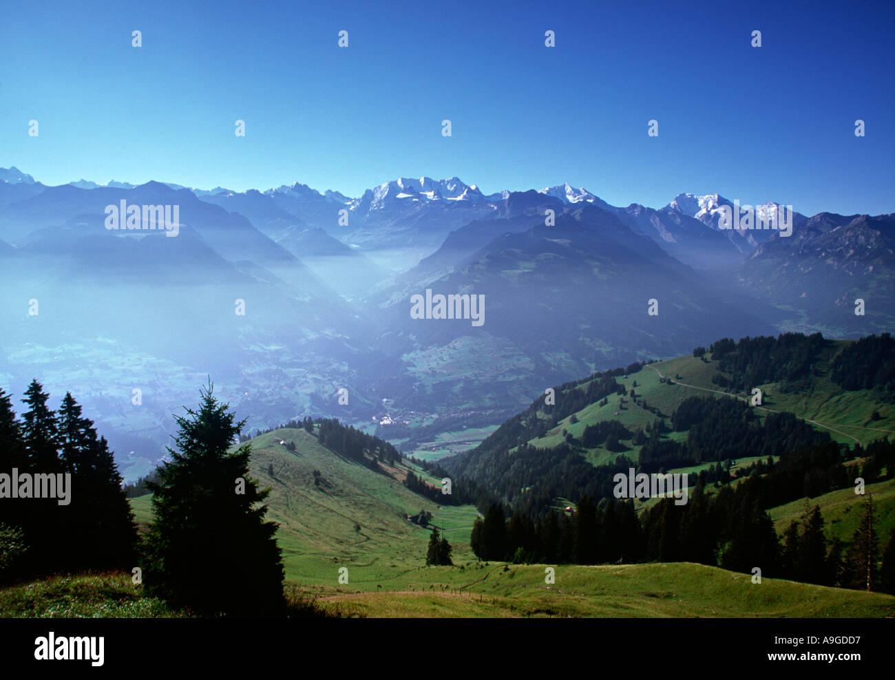 View fr. Niesen, Berner Oberland, Switzerland - Stock Image