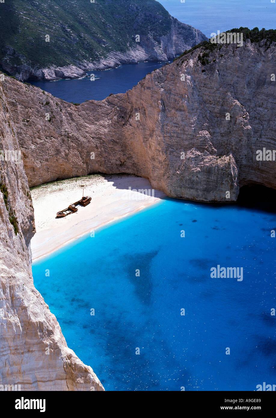 Navagio, Zante (Zakynthos), Ionian Islands, Greece - Stock Image