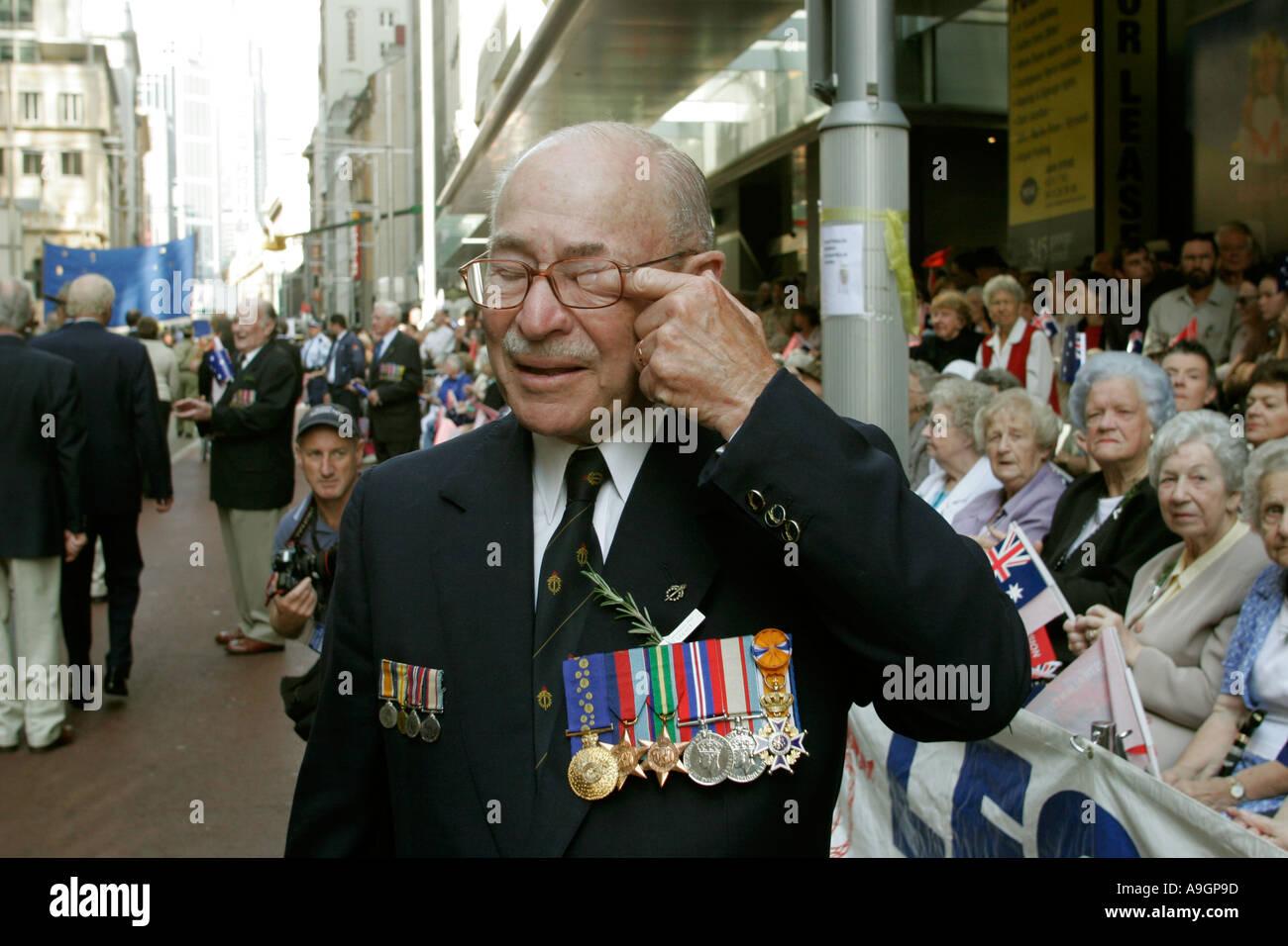 ANZAC day Sydney Australia - Stock Image