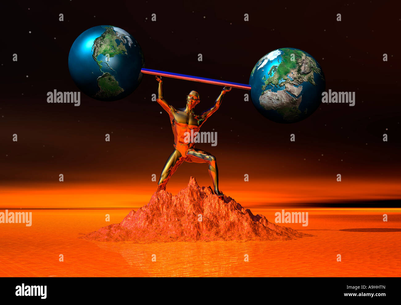 Adam Or Hercules? - Stock Image