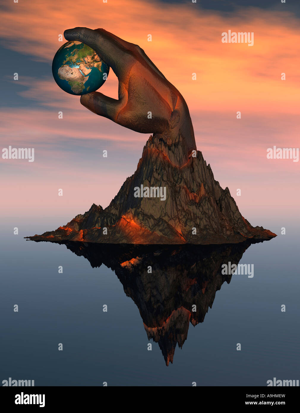 World At Your Finger Tips - Stock Image