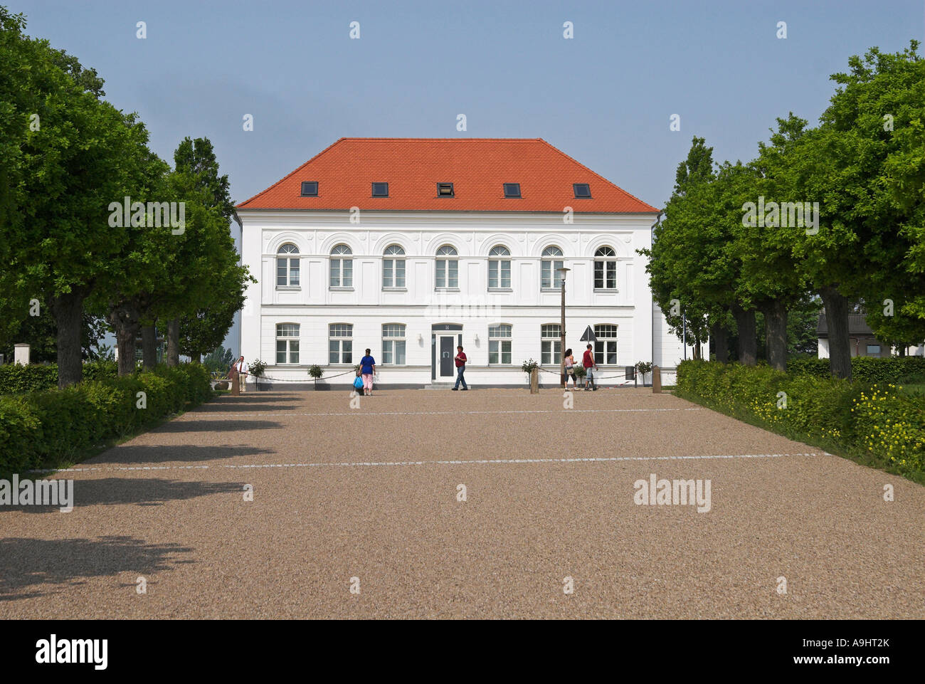 Building at the Circus of Putbus, Ruegen island, Mecklenburg Western Pomerania Stock Photo