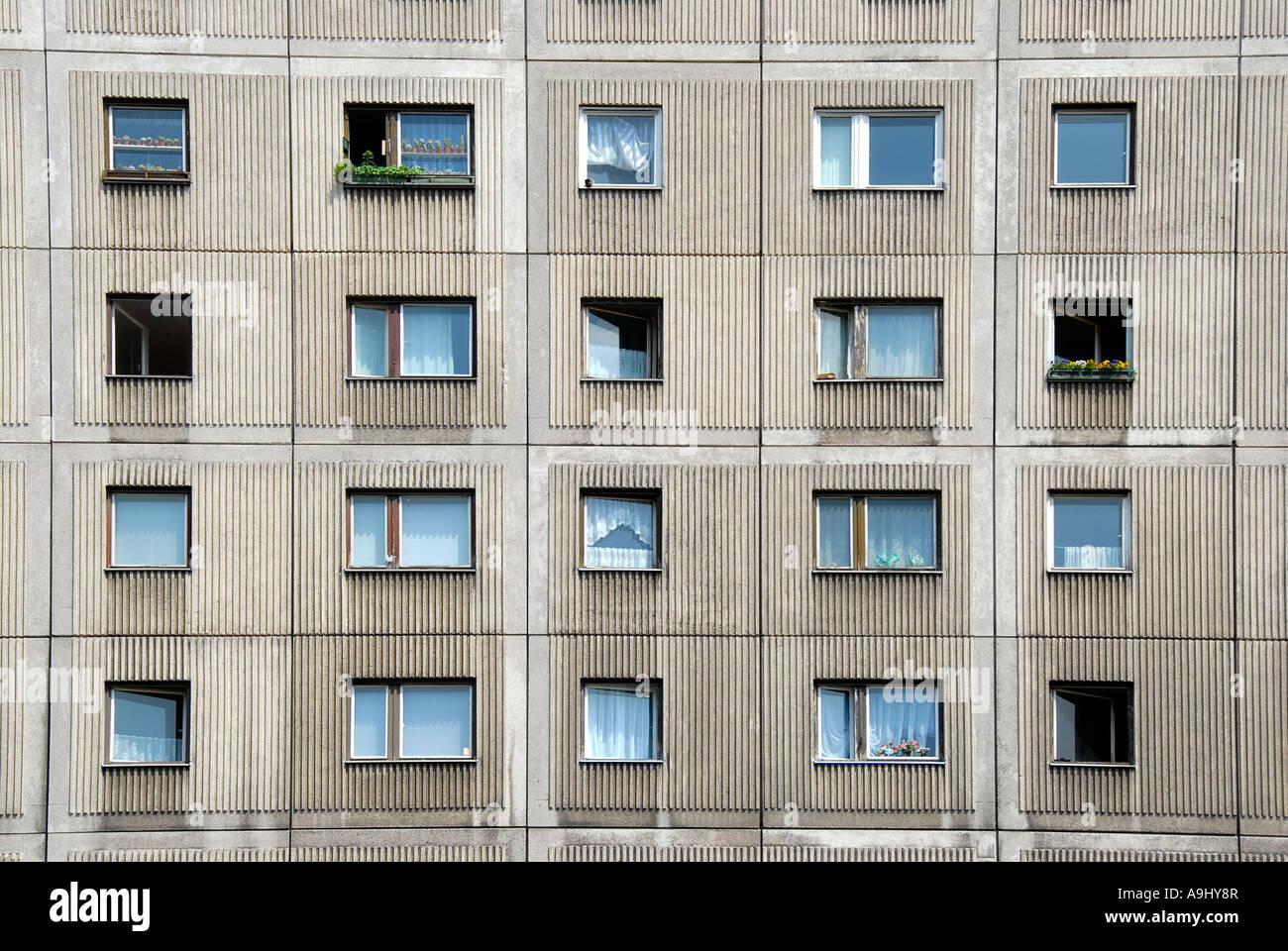 Sulky living socialistic style appartments Berlin Germany Stock Photo