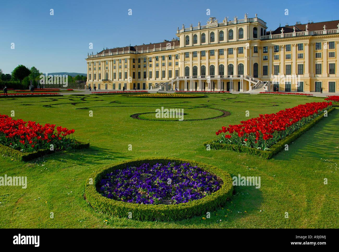 Schoenbrunn Palace, Vienna, Vienna, Austria Stock Photo