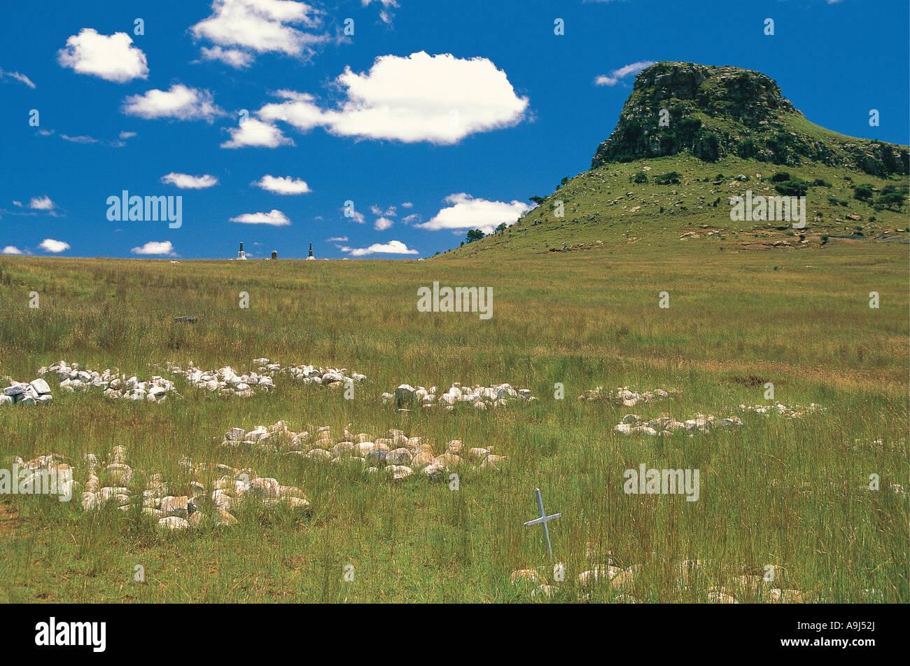 Isandlwana Battlefield Kwa Zulu Natal South Africa - Stock Image