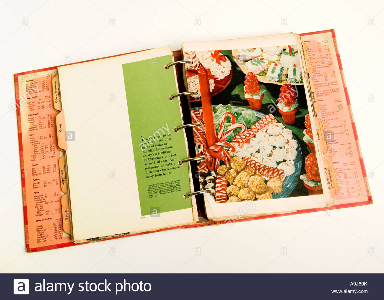 1950s recipe book - Stock Image