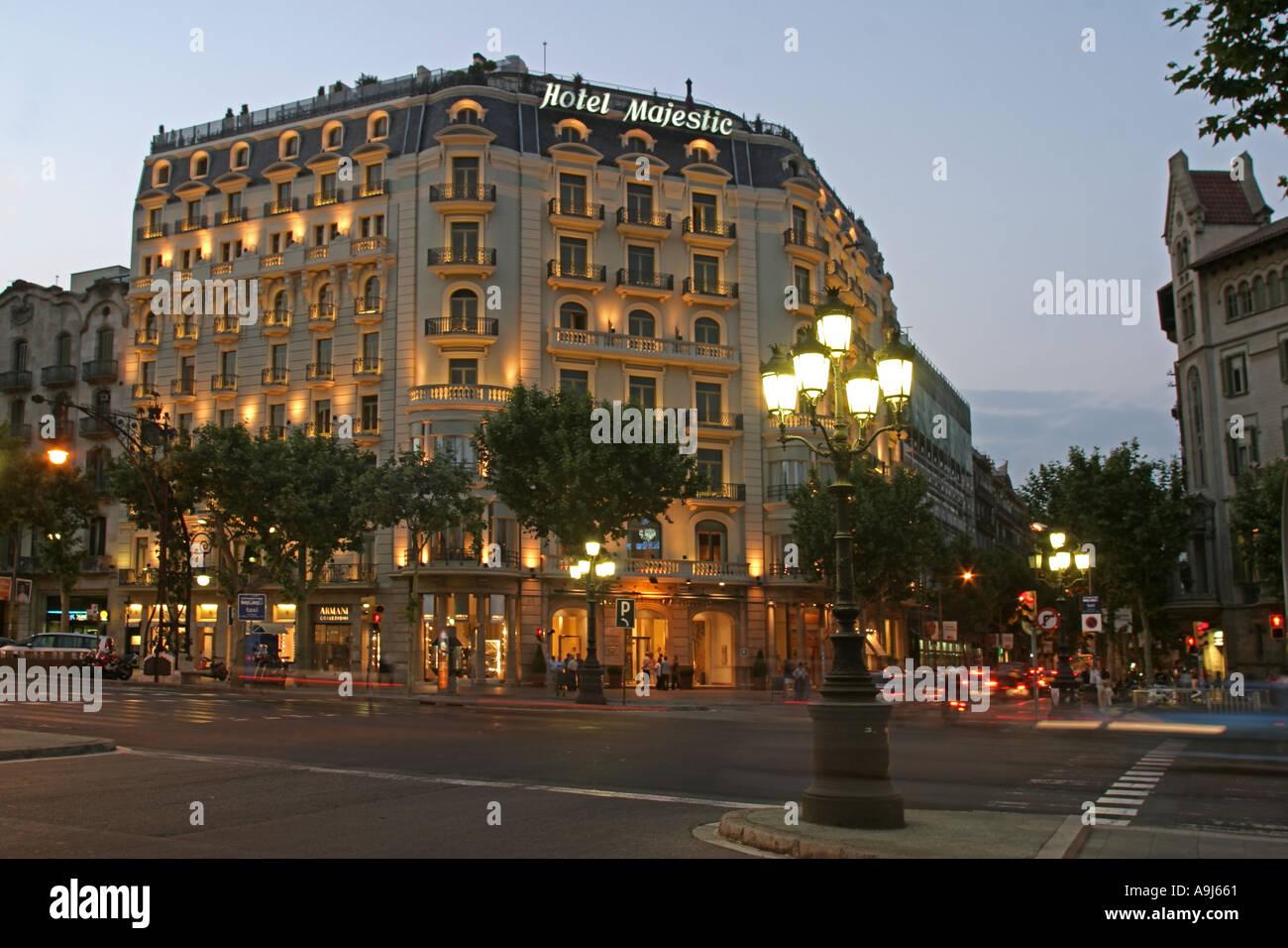ESP Spanien Barcelona Hotel Majestic Passeig de Gracia  - Stock Image