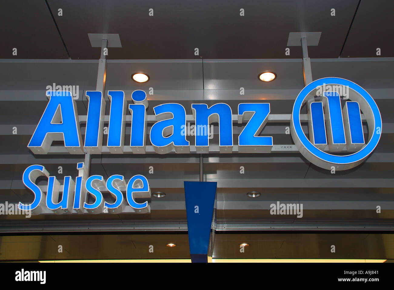 Switzerland Zurich Allianz Suisse Logo - Stock Image