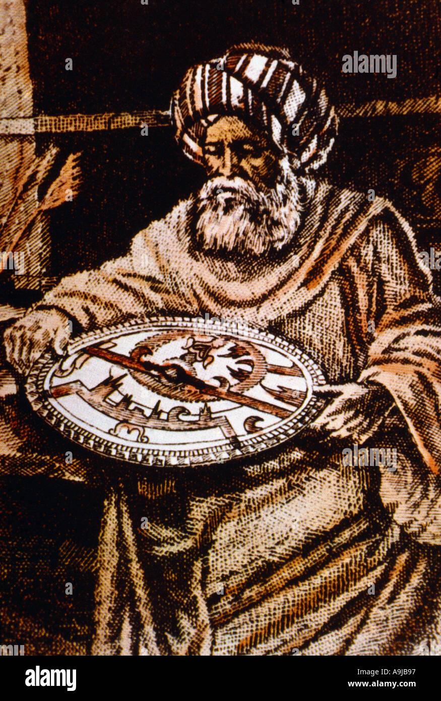 Abu Abdullah Al battani 858 929 Ad Astronomer Astrologer Abu Abdullah Muhammad Ibn Jabir Ibn Sinan Al battani Al harrani Born - Stock Image