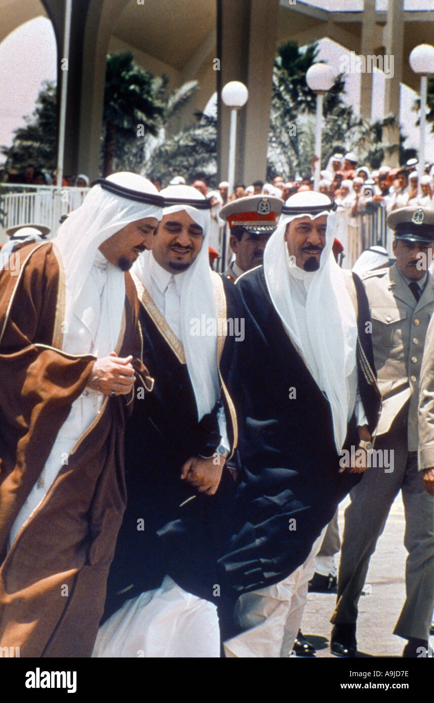 Saudi Arabia Saudi Royals Arriving at Official Event - Stock Image