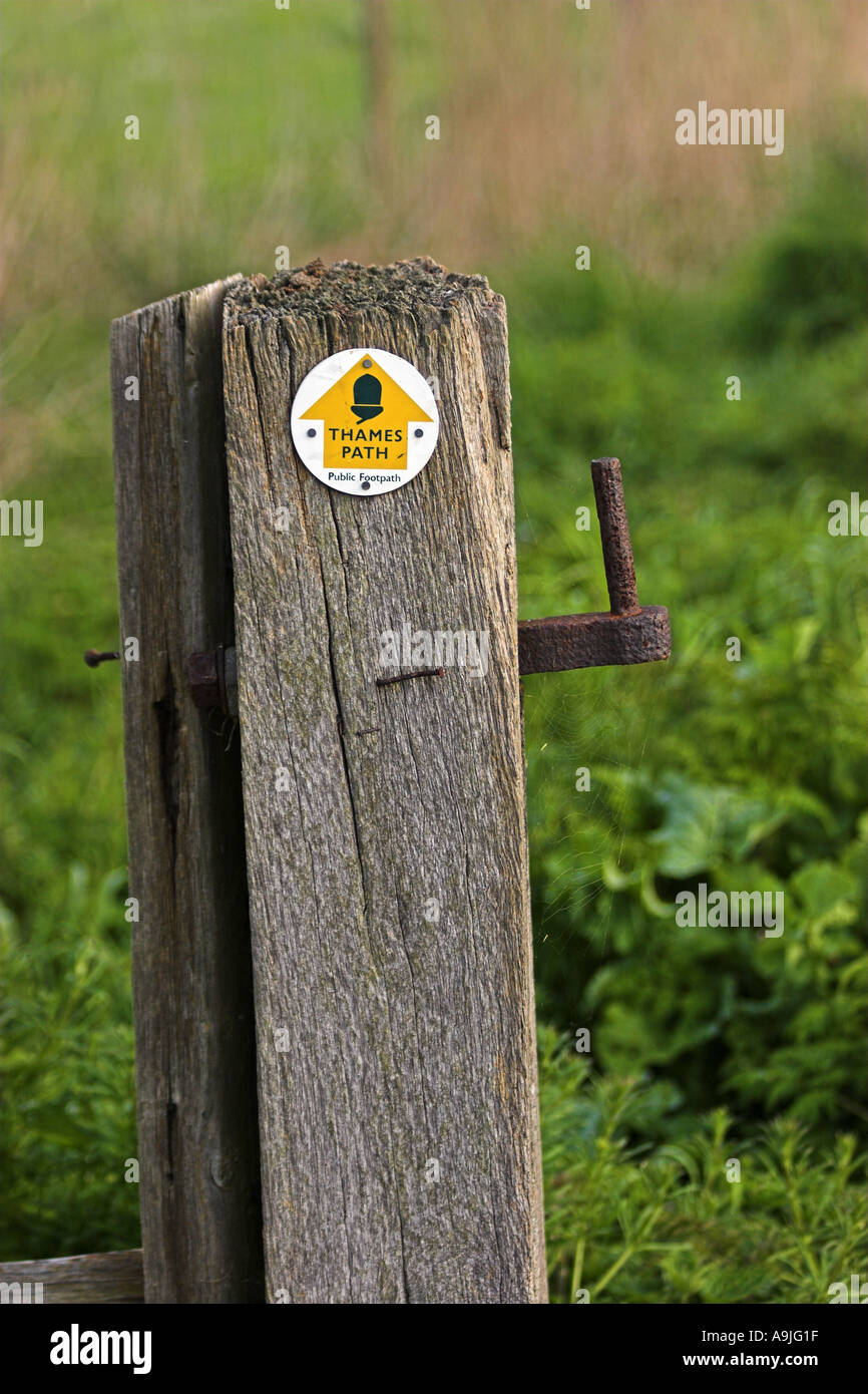 Thames Path Sign - Stock Image