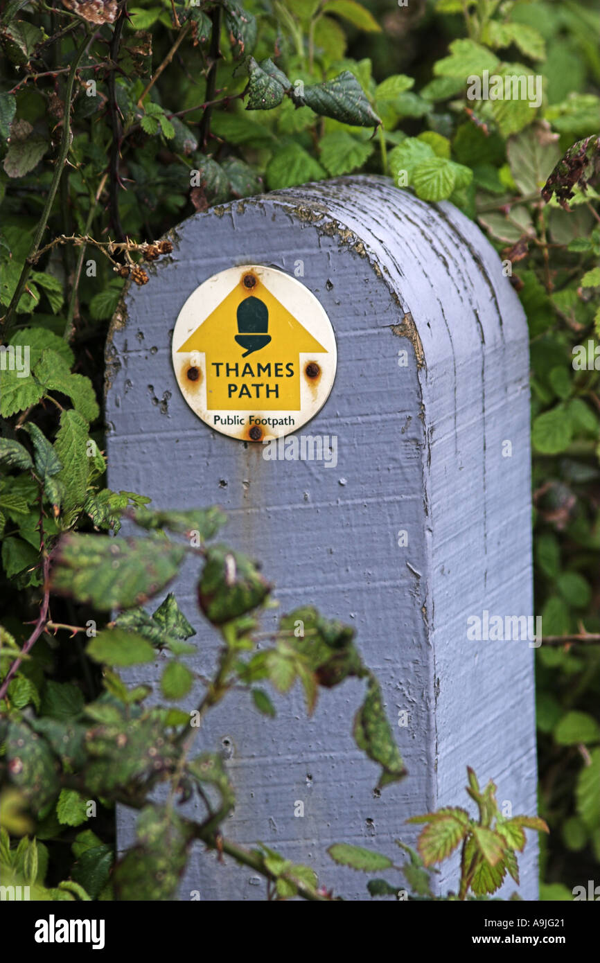 Thames Path Sign Stock Photo