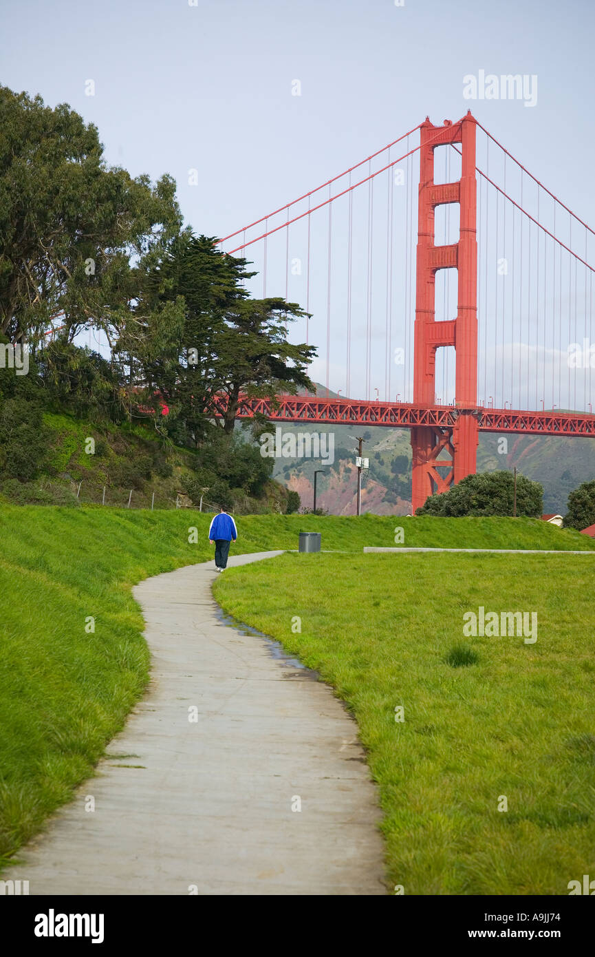Golden Gate bridge view - Stock Image