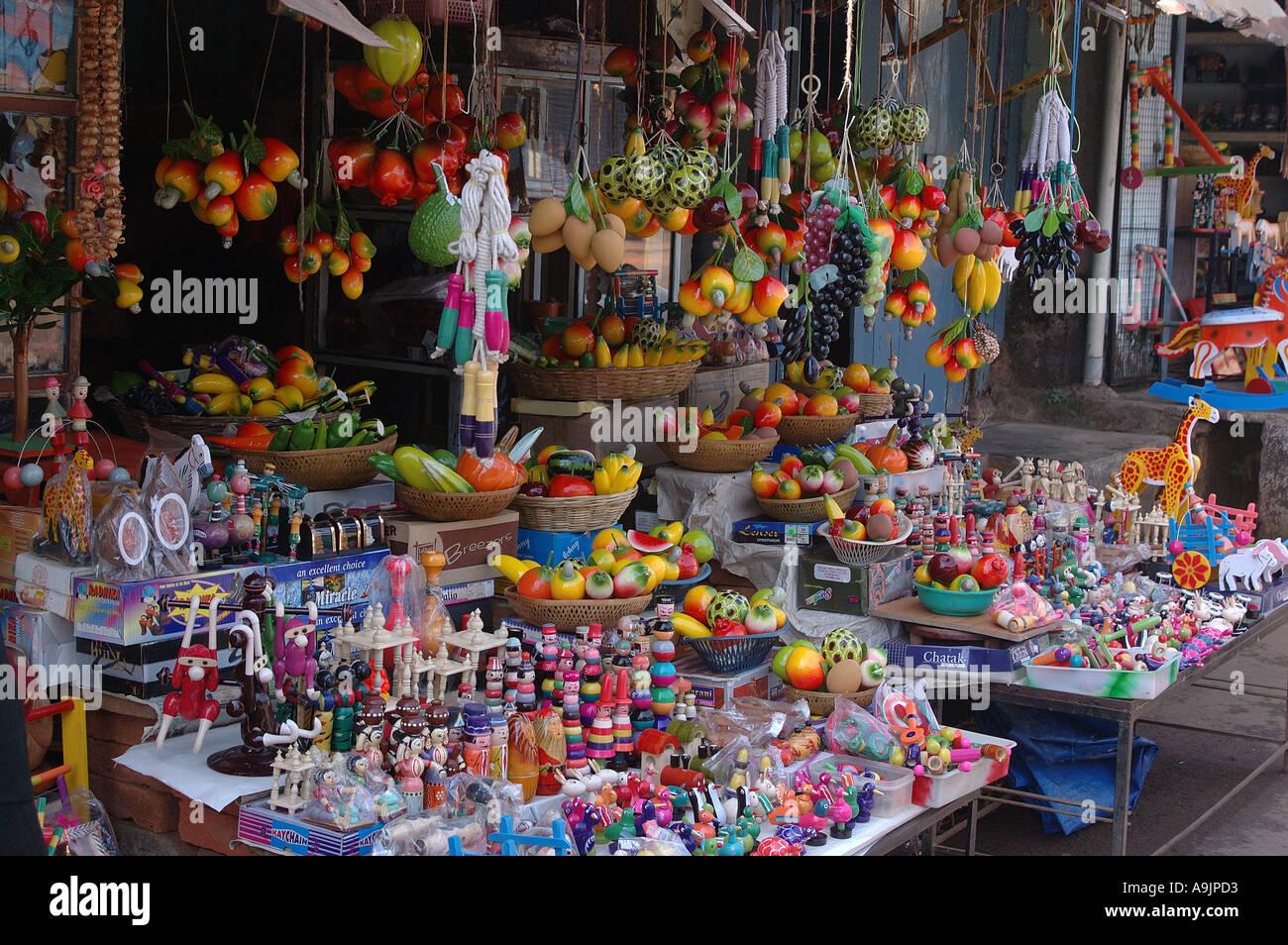 Wooden Toy Shop Sawantwadi Sindhudurga Maharashtra India Stock Photo