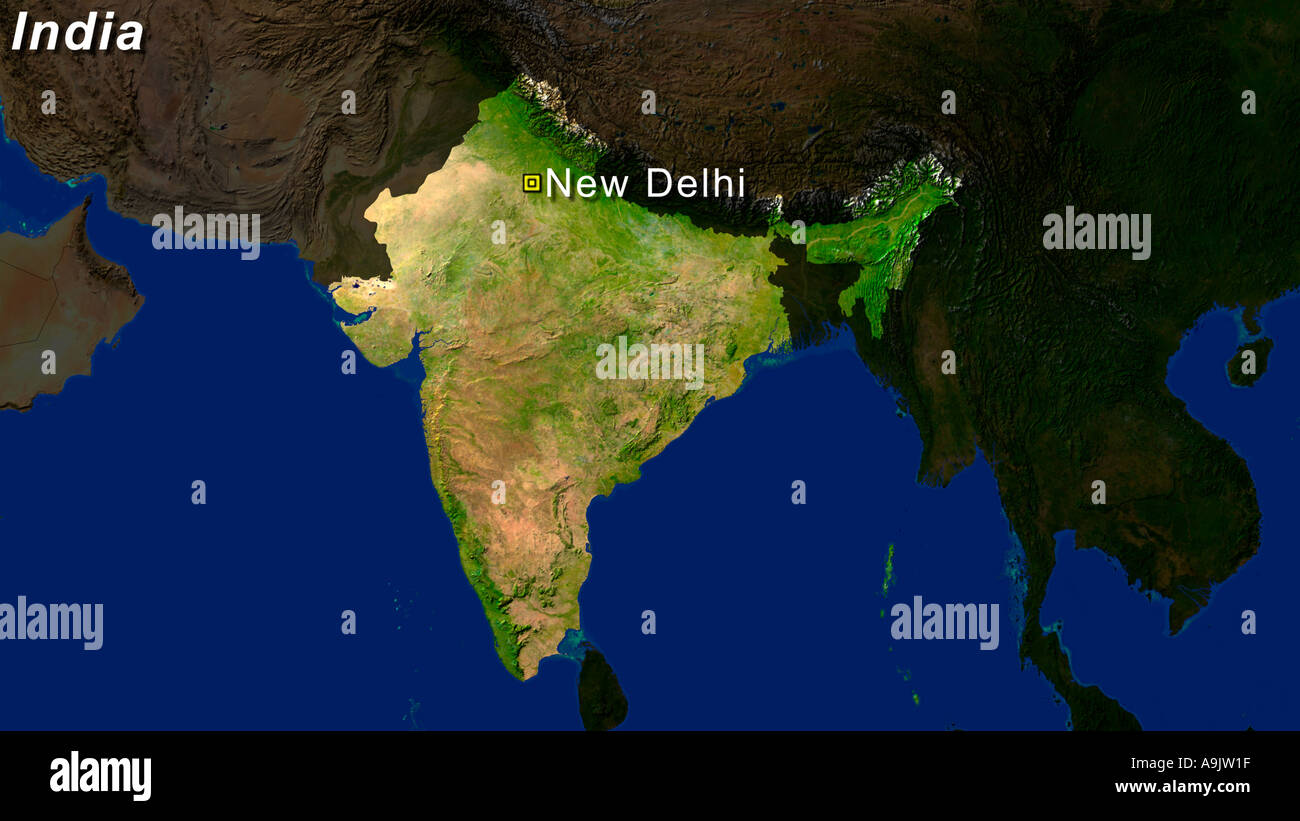 Map india regions stock photos map india regions stock images alamy highlighted satellite image of india with new delhi highlighted stock image gumiabroncs Gallery