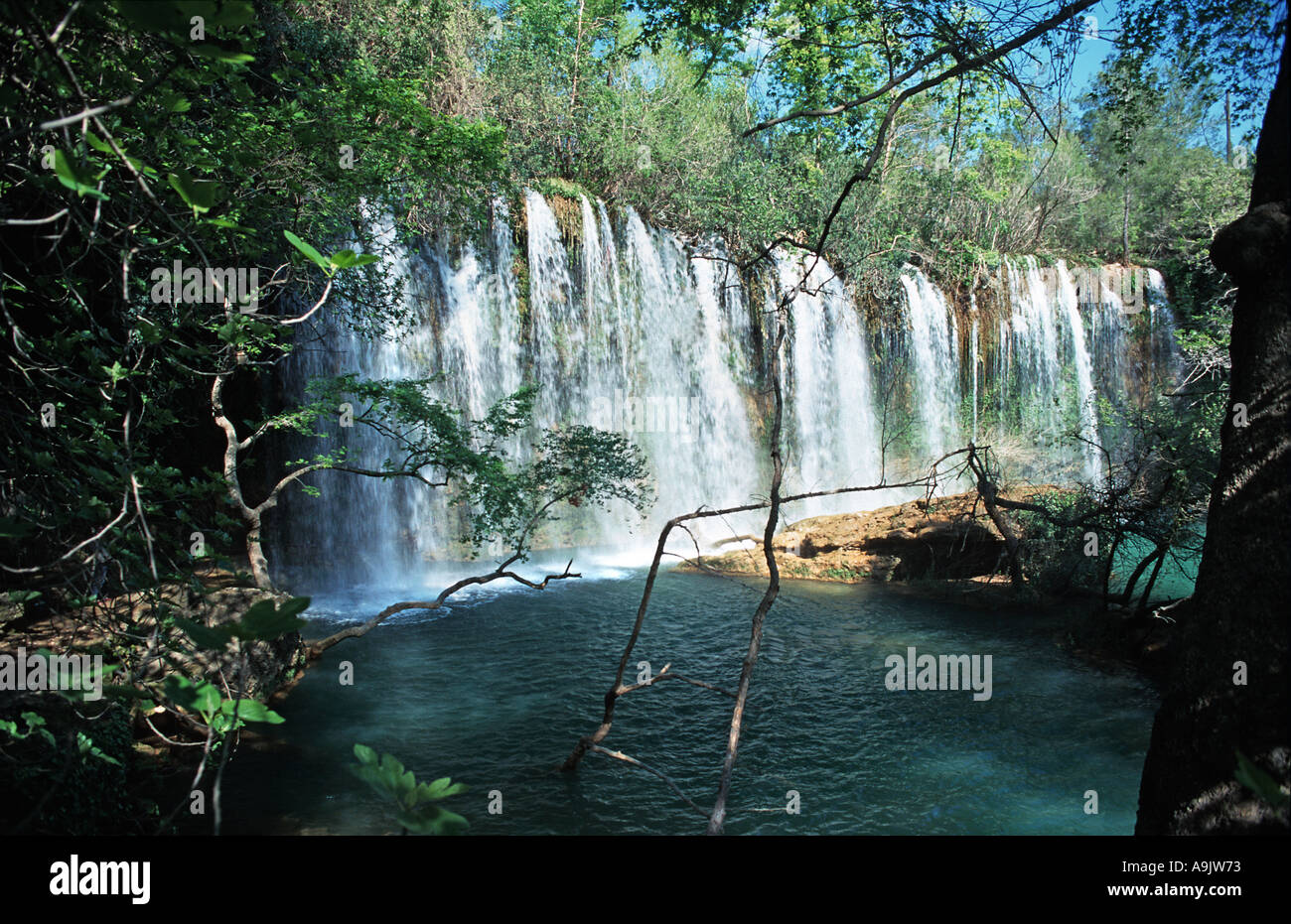 Termossos Duden waterfalls near Antakya Turkey - Stock Image