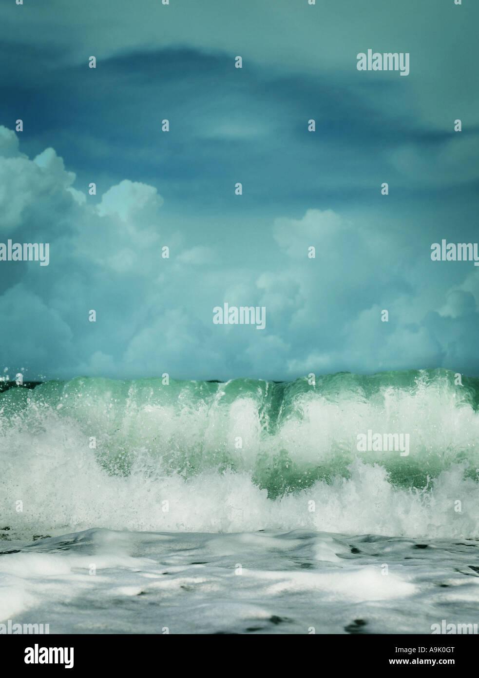 breaking waves - Stock Image
