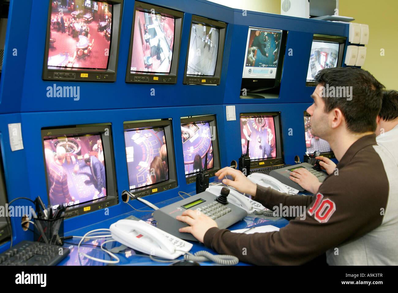 casino secret security monitoring monitor camera cctv no prohibit Stock  Photo - Alamy