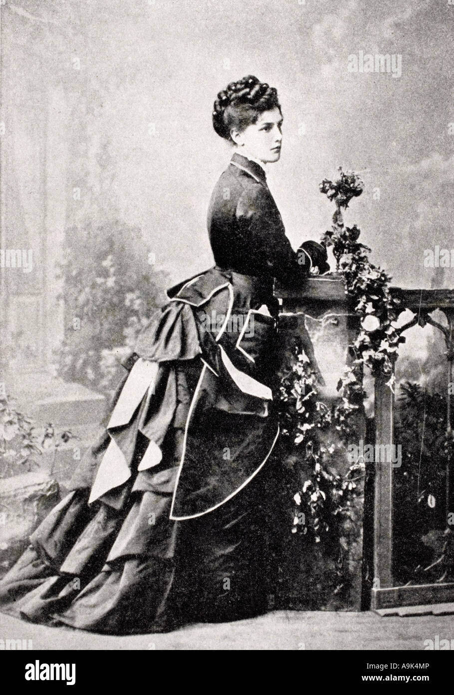 Jeanette Jennie Jerome Lady Randolph Churchill, 1854 - 1921.  American. Mother of Sir Winston Churchill. - Stock Image