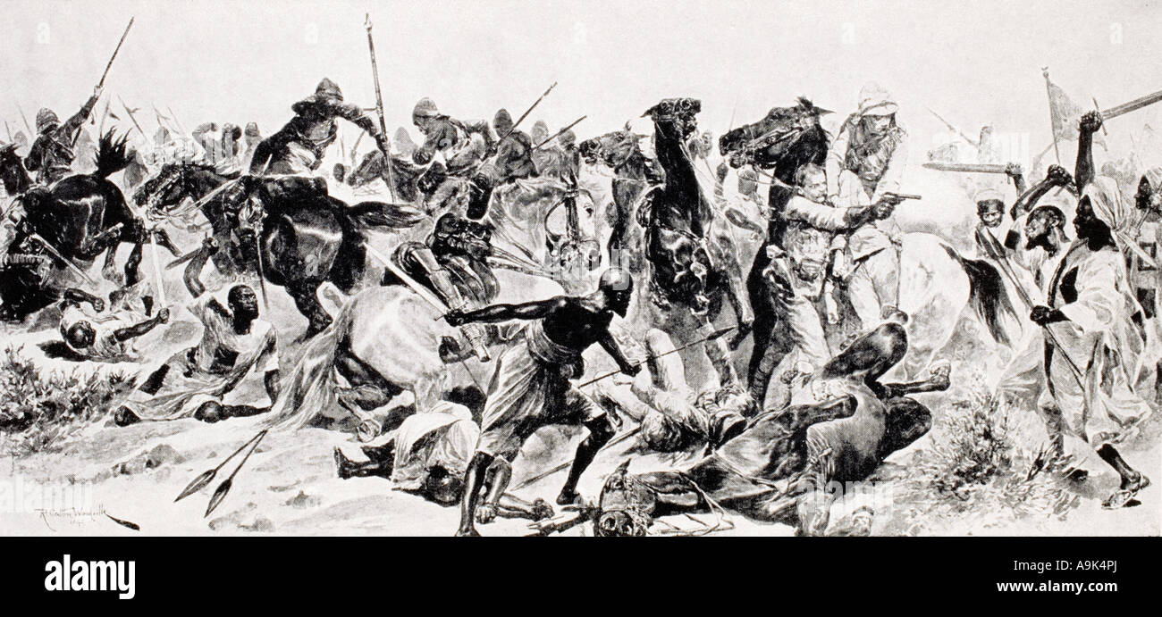 Charge of the 21st Lancers at Omdurman - Stock Image