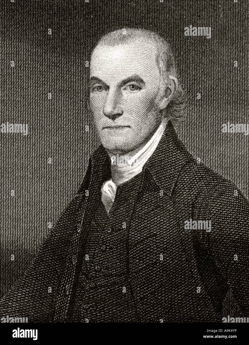 William Floyd 1734 to 1821.  American statesman and Founding Father - Stock Image