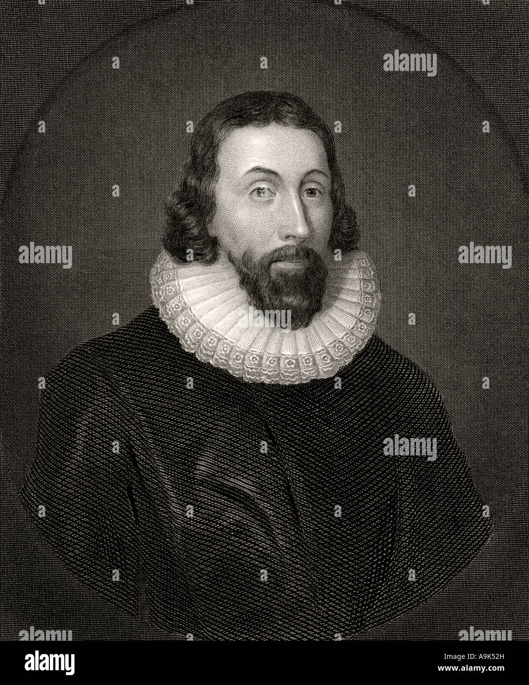 John Winthrop, 1587 or 1588 - 1649. English born Puritan who became first Governor of Massachusetts Bay Colony - Stock Image