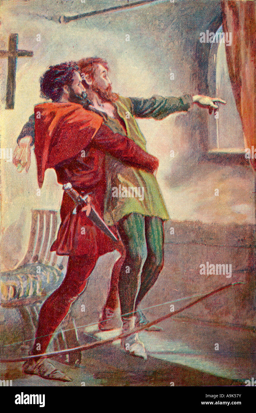 The Last Shot Colour plate from The Life and Adventures of Robin Hood - Stock Image