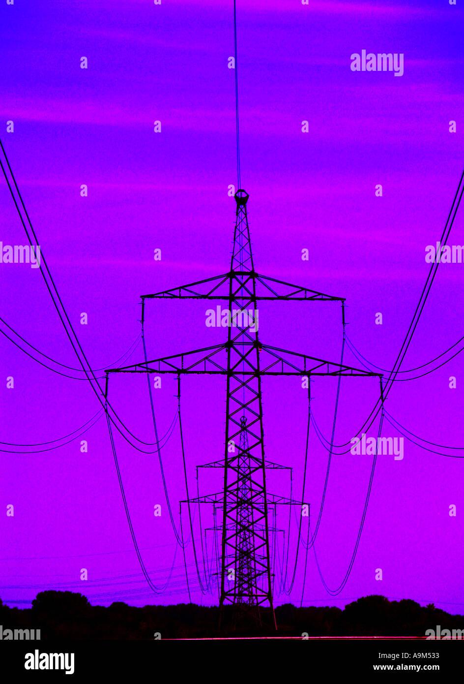 symbolic symbol POWER SUPPLY energy strom stream current branch ...