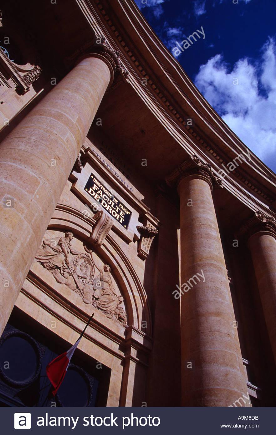 Faculty de droit buildings The Sorbonne Paris France - Stock Image