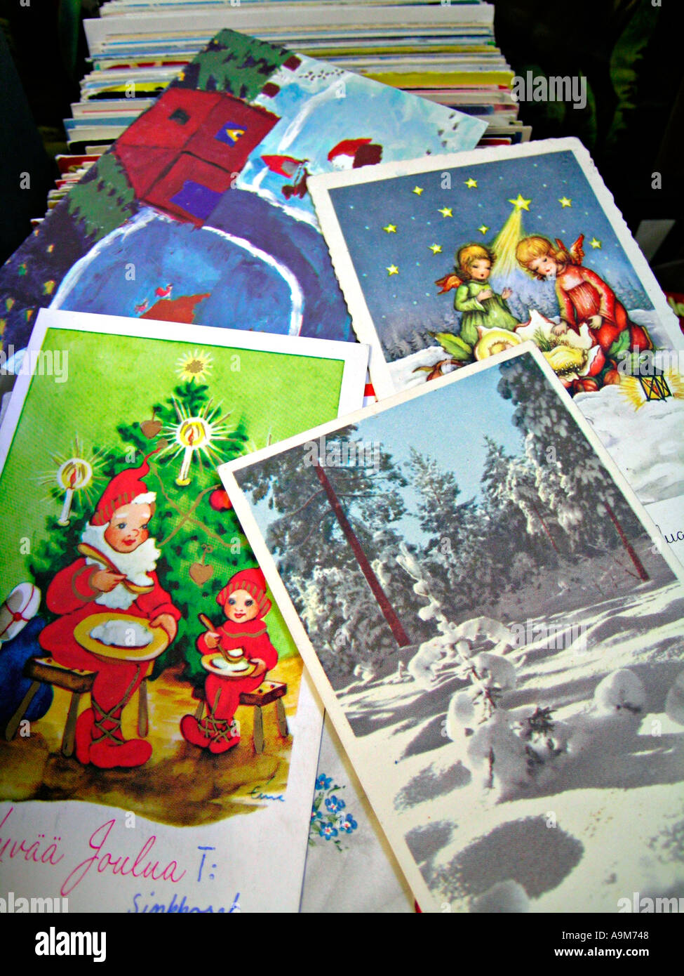 Old Fashioned Christmas Card Stock Photos & Old Fashioned Christmas ...