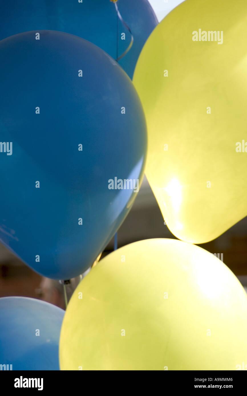 Helium Party Balloons Stock Photo