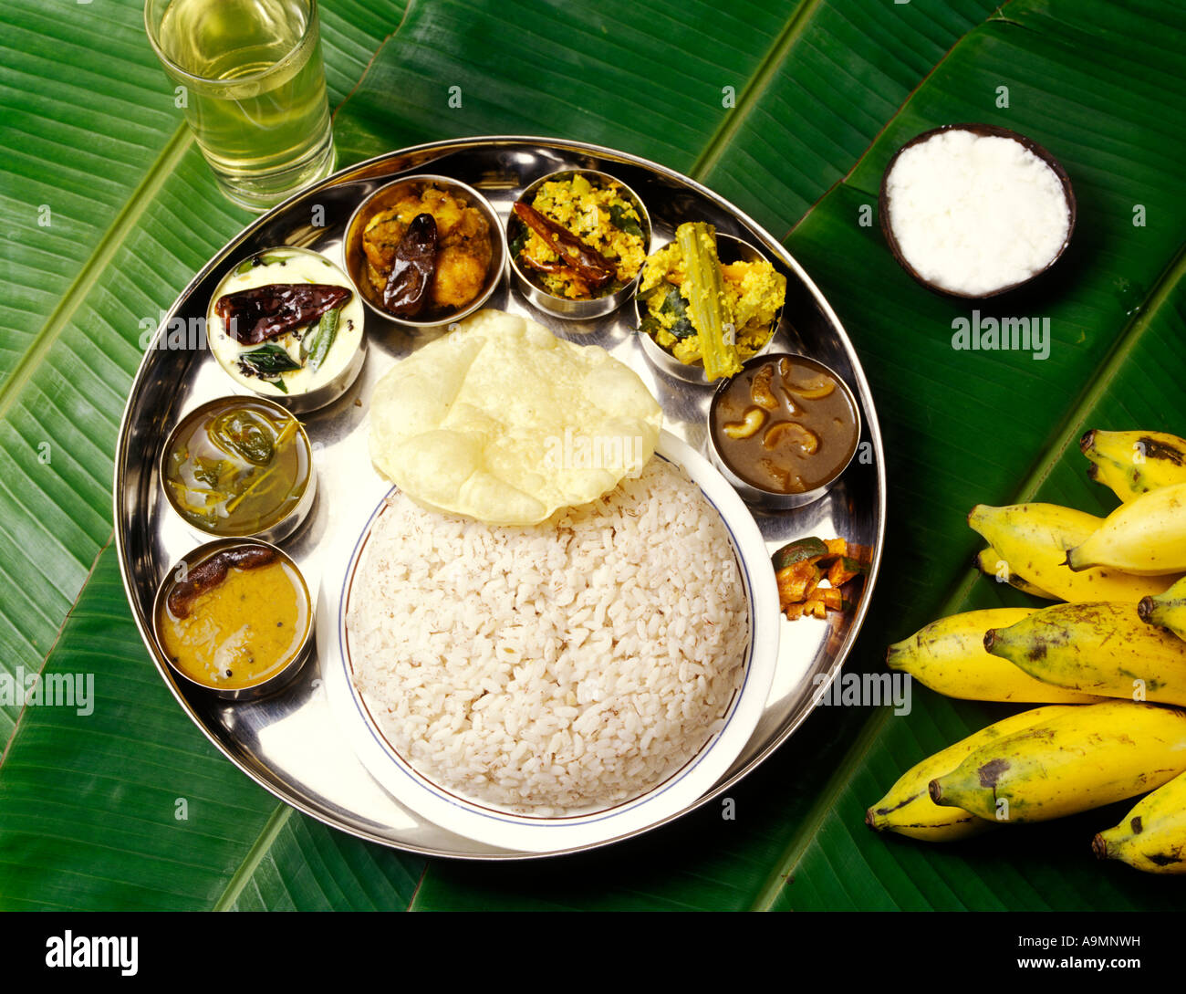 Kerala Food Thali Stock Photos & Kerala Food Thali Stock